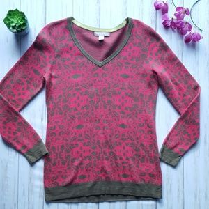 Banana Republic cotton v-neck sweater size M